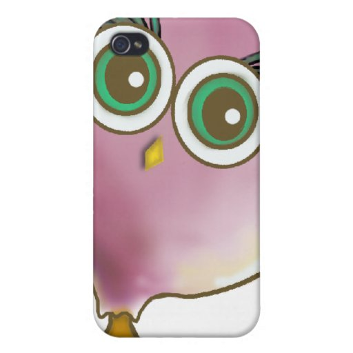 Funny Cute Owl Picture iPhone 4 Covers