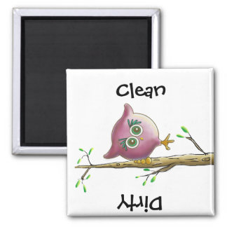 Funny Cute Owl Picture Magnet