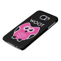 Funny Cute Owl Woot Samsung Galaxy S6 Case