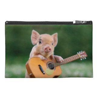 Funny Cute Pig Playing Guitar Travel Accessories Bag