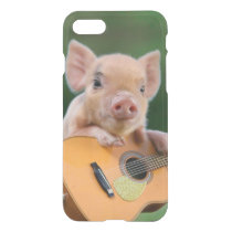 Funny Cute Pig Playing Guitar iPhone 7 Case