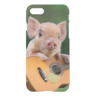 Funny Cute Pig Playing Guitar iPhone 8/7 Case