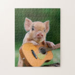 "Funny Cute Pig Playing Guitar Jigsaw Puzzle<br><div class=""desc"">Funny Cute Pig Playing Guitar                            &quot;the pig&quot;,  snout,  &quot;funny pig&quot;,  cute,  &quot;cute pig&quot;,  piglet,  pig,  &quot;pig pink&quot;,  &quot;baby pig&quot;,  &quot;guitar pig&quot;,  sitting,  melody,  guitarist,  &quot;pig funny&quot;,  sound,  musician,  rural,  &quot;pig cute&quot;,  &quot;cute pigs&quot;,  &quot;pink pig&quot;,  humor,  playing,  classic,  concert,  &quot;pig guitar&quot;,  pink,  artists,  farm,  guitar,  music, </div>"