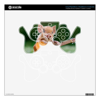 Funny Cute Pig Playing Guitar PS3 Controller Skin