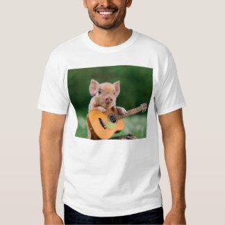 Funny Cute Pig Playing Guitar T Shirt
