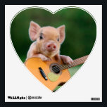 """Funny Cute Pig Playing Guitar Wall Decal<br><div class=""""desc"""">Funny Cute Pig Playing Guitar                            &quot;the pig&quot;,  snout,  &quot;funny pig&quot;,  cute,  &quot;cute pig&quot;,  piglet,  pig,  &quot;pig pink&quot;,  &quot;baby pig&quot;,  &quot;guitar pig&quot;,  sitting,  melody,  guitarist,  &quot;pig funny&quot;,  sound,  musician,  rural,  &quot;pig cute&quot;,  &quot;cute pigs&quot;,  &quot;pink pig&quot;,  humor,  playing,  classic,  concert,  &quot;pig guitar&quot;,  pink,  artists,  farm,  guitar,  music, </div>"""
