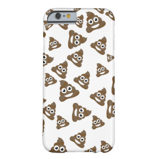 Funny Cute Poop Emoji Pattern Barely There iPhone 6 Case