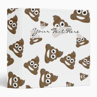 Funny Cute Poop Emoji Pattern Binder