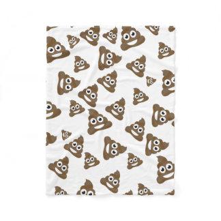 Funny Cute Poop Emoji Pattern Fleece Blanket