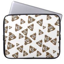 Funny Cute Poop Emoji Pattern Laptop Sleeve