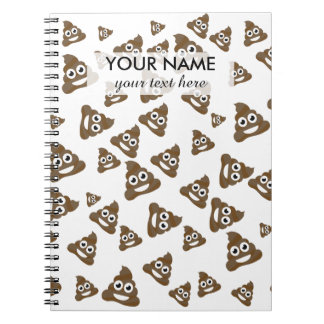 Funny Cute Poop Emoji Pattern Notebook