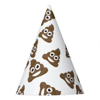 Funny Cute Poop Emoji Pattern Party Hat
