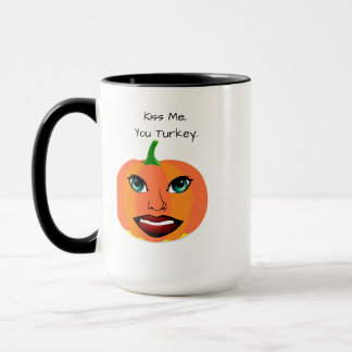 Funny Cute Pumpkin Customizable Mug