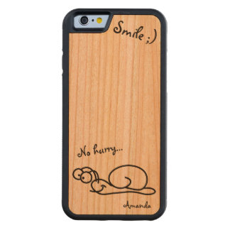Funny Cute Relaxed Customizable Carved Cherry iPhone 6 Bumper Case