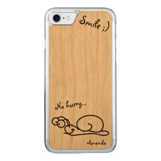 Funny Cute Relaxed Customizable Carved iPhone 7 Case