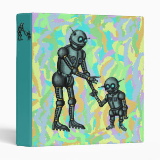 Funny cute robot and robot baby binder design