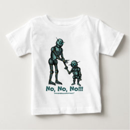 Funny cute robot and robot baby t-shirt design