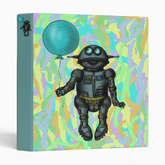 Funny cute robot with balloon binder design