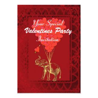Funny cute romantic elephant card