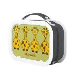 Funny Cute Round Belly Cartoon Giraffes Custom Lunchboxes