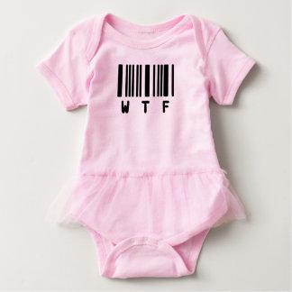 Funny Cute Ruffled Baby Tutu - WTF Baby Bodysuit