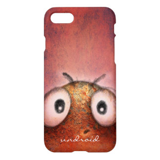Funny Cute Rusty Pink Robot Droid iPhone 7 Case