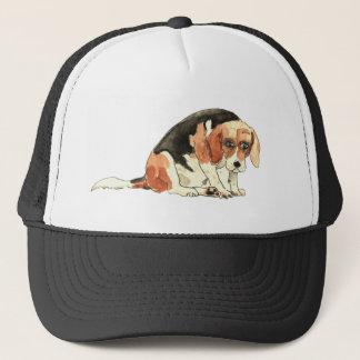 Funny Cute Sad Beagle Watercolour Dog Art Design Trucker Hat