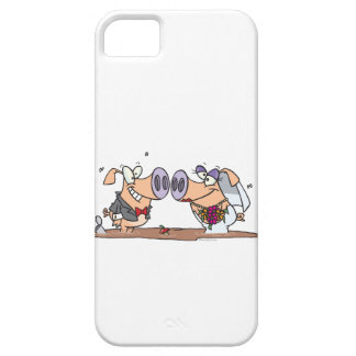 funny cute silly wedding pigs bride groom iPhone 5 cases