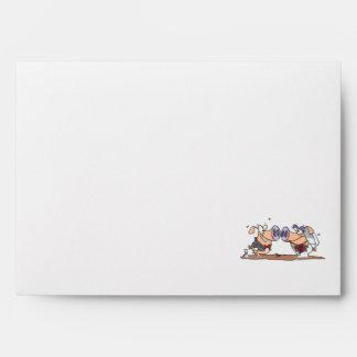funny cute silly wedding pigs bride groom envelopes