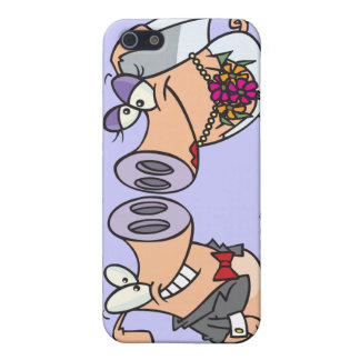 funny cute silly wedding pigs bride groom covers for iPhone 5