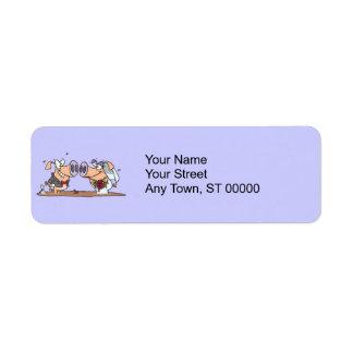 funny cute silly wedding pigs bride groom custom return address labels