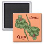 Funny Cute Snake Lover Kitchen Dishwasher 2 Inch Square Magnet
