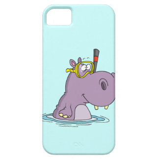 funny cute snorkeling swimming hippo iPhone SE/5/5s case