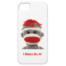 Funny & Cute  Sock Monkey  I Phone 5 case