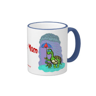 Funny cute turtles best mom mug design