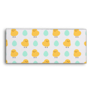 Funny cute yellow chick egg easter illustration envelope