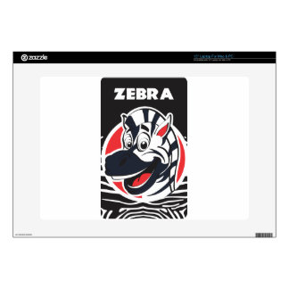 "Funny cute Zebras 15"" Laptop Skin"