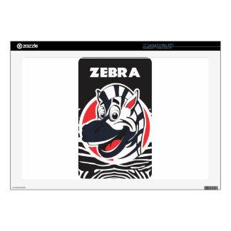"Funny cute Zebras 17"" Laptop Decal"