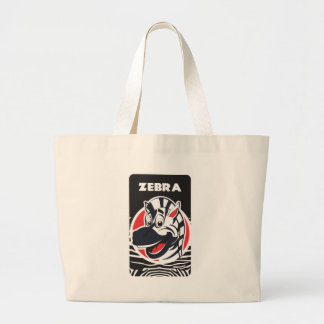 Funny cute Zebras Large Tote Bag