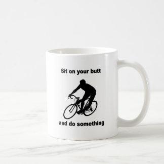 Funny cycling coffee mug