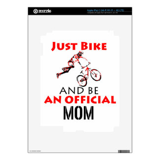 Funny Cycling mom Skin For iPad 3