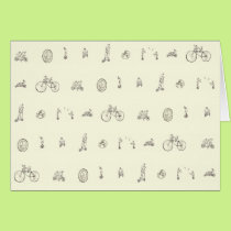 Funny cycling on your bicycle art card