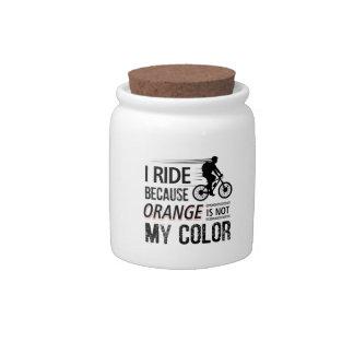 Funny Cycling Tees Candy Jar
