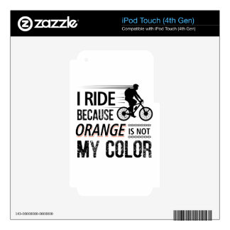 Funny Cycling Tees iPod Touch 4G Decals