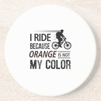 Funny Cycling Tees Sandstone Coaster