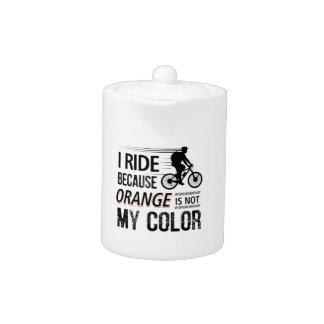 Funny Cycling Tees Teapot
