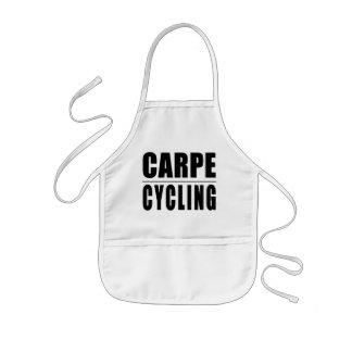 Funny Cyclists Quotes Jokes : Carpe Cycling Kids' Apron