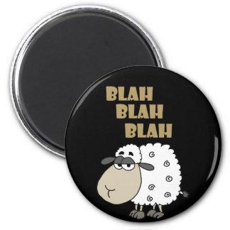Funny Cynical Sheep says Blah Blah Blah Magnet
