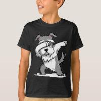 Funny Dabbing Schnauzer T-Shirt