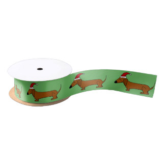 Funny Dachshund Dog Christmas Ribbon Blank Ribbon